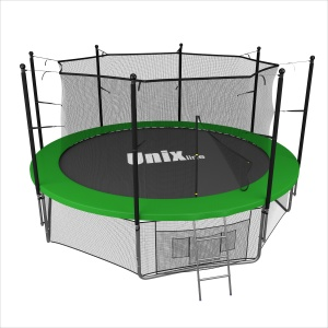 Спортивный батут UNIX Line 12 ft green inside