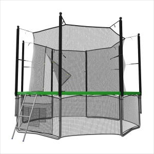 Спортивный батут UNIX line 8 ft inside green