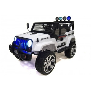 Электромобиль Rivertoys Jeep T008TT 4х4 белый