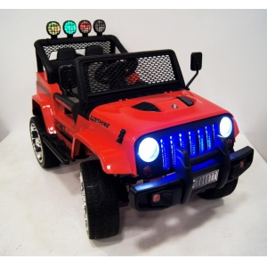 Электромобиль Rivertoys Jeep T008TT 4х4 красный