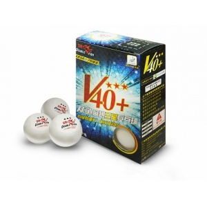 Мячи Double Fish A110F Three star 3 Volant (ITTF) 6 шт
