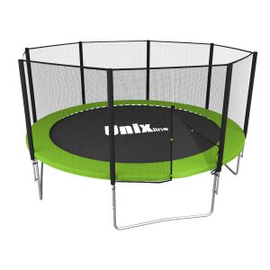 Спортивный батут UNIX line Simple 12 ft Green (outside)