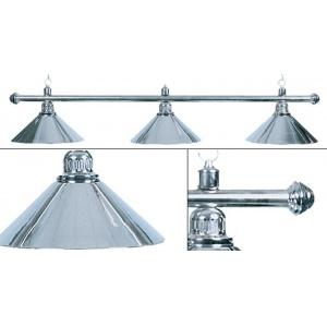 Лампа Weekend Elegance серебристая на 3 плафона