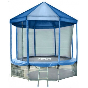 Спортивный батут Optifit Like Blue 14ft 4,27 м с синей крышей
