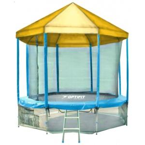 Батут Optifit Like Blue 14ft 4,27 м с желтой крышей