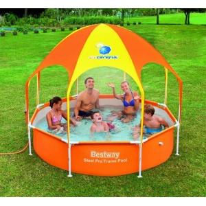 Каркасный бассейн с навесом Bestway 244х51 см